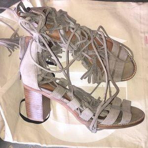 Jeffrey Campbell grey suede block heels 10US anthr